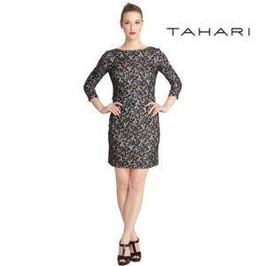 Tahari Black Lace Sheath Party Dress –  New, 6P